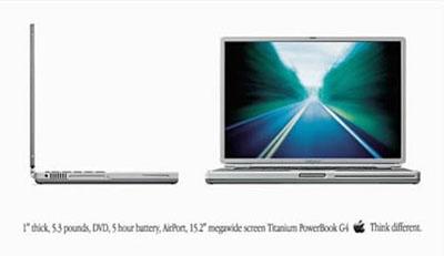 Old 15-inch Titanium PowerBook ad